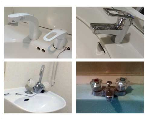 洗面所蛇口水漏れ