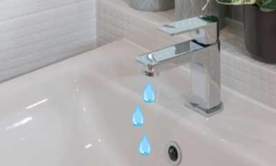 吐水口からポタポタ水漏れ