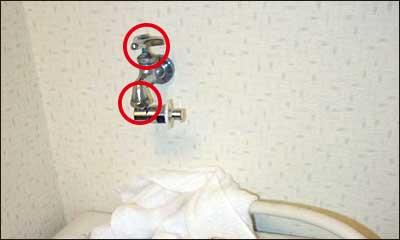 ハンドル下部やパイプ取り付け部の水漏れ