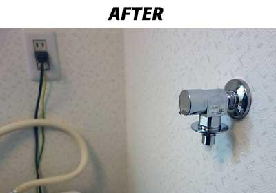 洗濯水栓の交換後